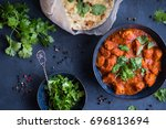 traditional indian british dish ... | Shutterstock . vector #696813694