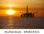offshore jack up rig in the... | Shutterstock . vector #696814321