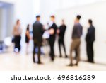 abstract blur group of people... | Shutterstock . vector #696816289