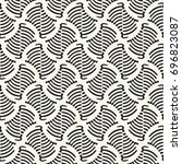 abstract ornate striped... | Shutterstock .eps vector #696823087