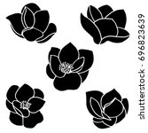 Set Of Five Vector Silhouettes...