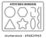 vector set of white seamless... | Shutterstock .eps vector #696824965