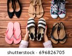 woman's shoes collection.... | Shutterstock . vector #696826705