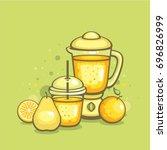smoothies illustration. fresh...   Shutterstock .eps vector #696826999