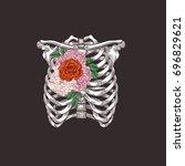tattoo anatomy vintage... | Shutterstock .eps vector #696829621