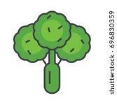 broccoli  green salad  spinach  ... | Shutterstock .eps vector #696830359