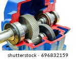 close up and inside of gear... | Shutterstock . vector #696832159