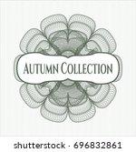 green abstract linear rosette... | Shutterstock .eps vector #696832861
