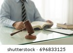 law and legal concept. judge... | Shutterstock . vector #696833125