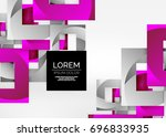 squares geometric shapes in... | Shutterstock .eps vector #696833935
