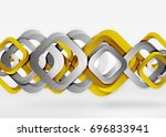 squares geometric shapes in... | Shutterstock .eps vector #696833941