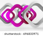 squares geometric shapes in... | Shutterstock .eps vector #696833971