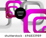 squares geometric shapes in... | Shutterstock .eps vector #696833989
