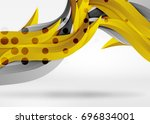 vector colorful wave lines in... | Shutterstock .eps vector #696834001