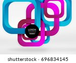 squares geometric shapes in... | Shutterstock .eps vector #696834145