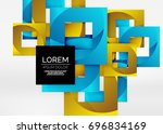 squares geometric shapes in... | Shutterstock .eps vector #696834169