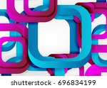 squares geometric shapes in... | Shutterstock .eps vector #696834199