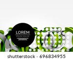 modern 3d ring composition in... | Shutterstock .eps vector #696834955