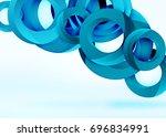modern 3d ring composition in... | Shutterstock .eps vector #696834991