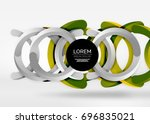 modern 3d ring composition in... | Shutterstock .eps vector #696835021