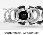 modern 3d ring composition in... | Shutterstock .eps vector #696835039