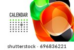 modern geometric presentation... | Shutterstock .eps vector #696836221