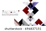 business presentation geometric ... | Shutterstock .eps vector #696837151