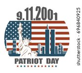 patriot day we will never... | Shutterstock .eps vector #696840925