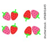 abstract strawberry background...   Shutterstock .eps vector #696841645