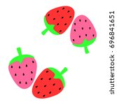 abstract strawberry background...   Shutterstock .eps vector #696841651