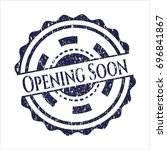 blue opening soon with rubber... | Shutterstock .eps vector #696841867