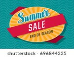 summer sale end of season... | Shutterstock .eps vector #696844225