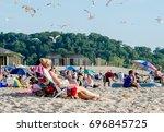 july 2017 warren dunes state... | Shutterstock . vector #696845725