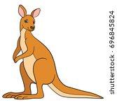 cartoon animals. cute beautiful ... | Shutterstock .eps vector #696845824