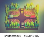 green earth concept in... | Shutterstock . vector #696848407