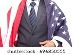 businessman cover with united... | Shutterstock . vector #696850555