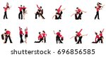 pair of dancers isolated on the ... | Shutterstock . vector #696856585
