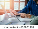 business meeting time. photo...   Shutterstock . vector #696861139