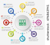 infographic template with... | Shutterstock .eps vector #696863941