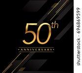 fifty years anniversary... | Shutterstock .eps vector #696869599