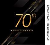 seventy years anniversary...   Shutterstock .eps vector #696869605