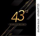 forty three years anniversary... | Shutterstock .eps vector #696869725