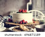 cakes delicious dessert bakery... | Shutterstock . vector #696871189