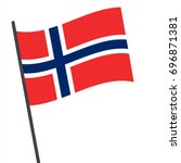 flag of norway   norway flag... | Shutterstock .eps vector #696871381