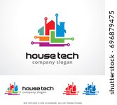 house tech logo template design ... | Shutterstock .eps vector #696879475