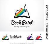 book paint logo template design ... | Shutterstock .eps vector #696879655