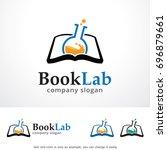 book lab logo template design... | Shutterstock .eps vector #696879661