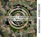 i can change the world on camo... | Shutterstock .eps vector #696882145