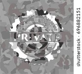 private written on a grey... | Shutterstock .eps vector #696882151