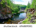 the brook of gorge scenic. | Shutterstock . vector #696889081